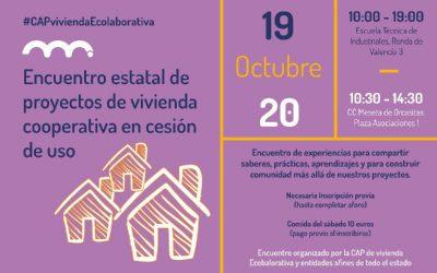 Vídeo primer encuentro estatal de proyectos de vivienda cooperativa en cesión de uso, Madrid 19-20 octubre 2019