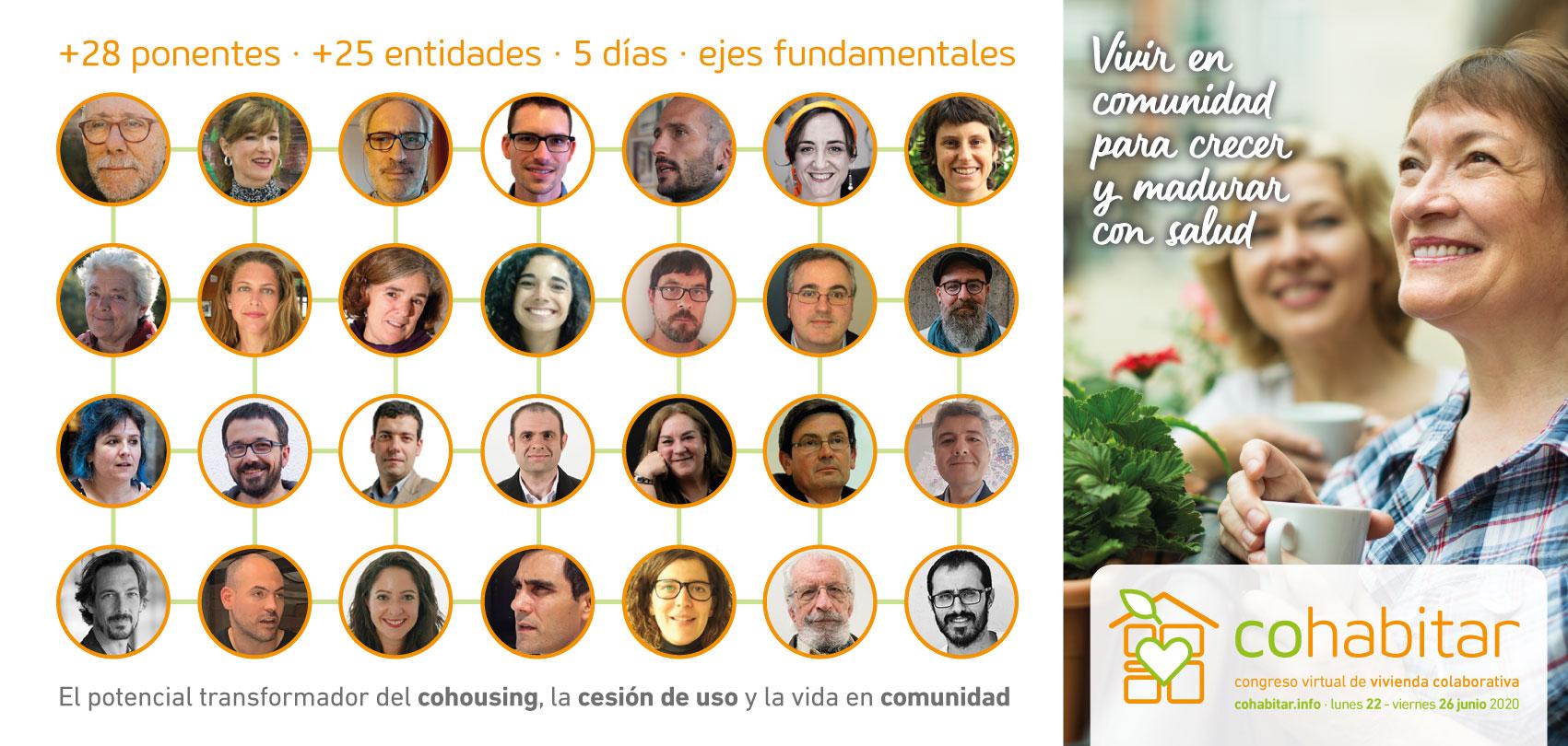 cohabitar flyer congreso vivienda colaborativa ponentes